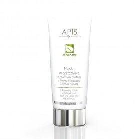 APIS Acne-Stop maska oczyszczająca z czarnym błotem 200ml