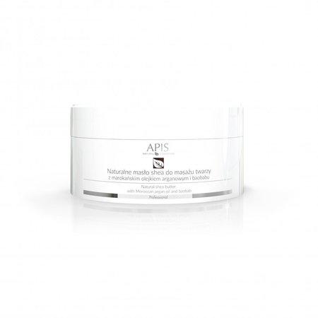 APIS Naturalne masło shea z olejkiem argan. do masażu twarzy 100g (1)
