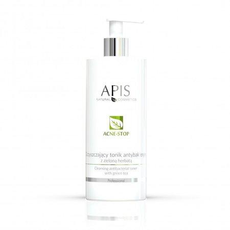 APIS Acne-Stop oczyszczający tonik antybakt. z zieloną herbatą 500ml (1)