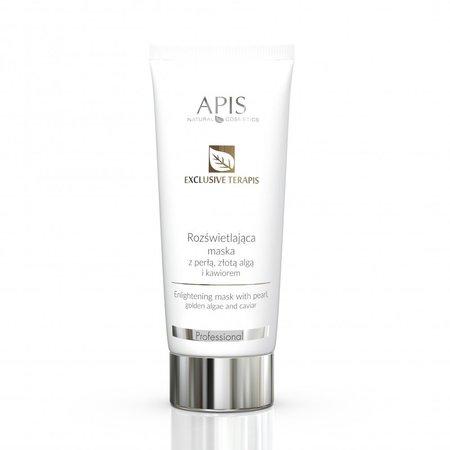 APIS Exclusive terApis rozświetlająca maska z perłą, złotą algą i kawiorem 200ml (1)