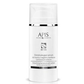 APIS Detoksykujące serum do twarzy z węglem z bambusa i jonizowanym srebrem 100ml