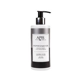 APIS Oczyszczający żel do mycia twarzy z aktywnym węglem 300ml
