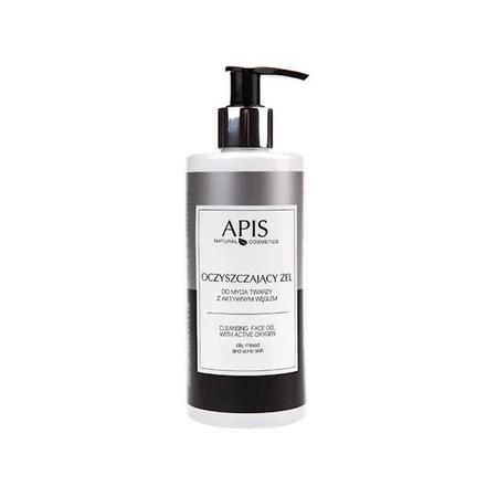 APIS Oczyszczający żel do mycia twarzy z aktywnym węglem 300ml (1)