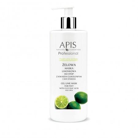 APIS Fresh Lime terApis żelowa maska limonkowa do stóp z kwasem glikolowym i mocznikiem 500ml (1)