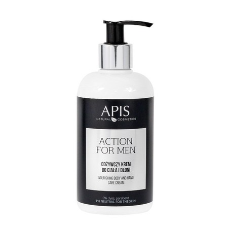 APIS Action for Men - Odżywczy krem do ciała i dłoni 300ml (1)