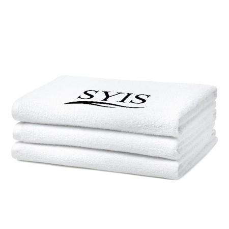 SYIS Ręcznik frotte z logo 50x90 - biały (1)