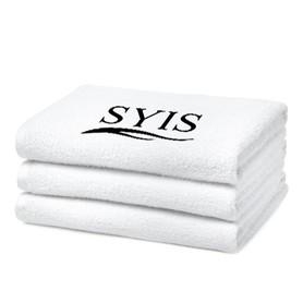 SYIS Ręcznik frotte z logo 70x140 - biały
