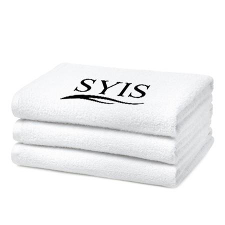 SYIS Ręcznik frotte z logo 70x140 - biały (1)