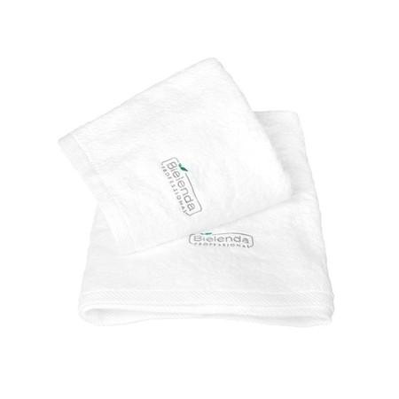 BIELENDA Ręcznik frotte z LOGO 70 x140 - biały (1)