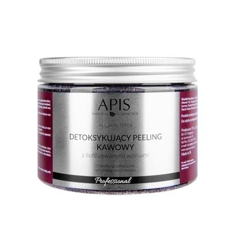 APIS Detoksujący  peeling kawowy Wiśnia 300g (1)