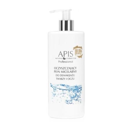 APIS Oczyszczający płyn micelarny do demakijażu twarzy i oczu 500ml (1)