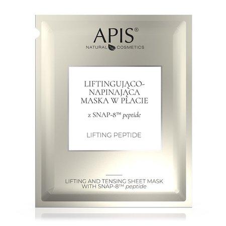 APIS Liftingująco – napinający maska w płacie z SNAP-8 TM peptide 20g