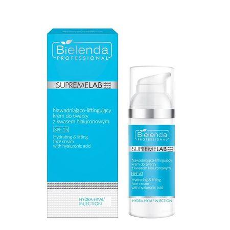 BIELENDA SUPREMELAB Hydra-Hyal2 Injection Nawadniająco-liftingujący krem do twarzy z kwasem hialuronowym SPF 15 50 ml