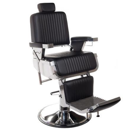Fotel barberski LUMBER BH-31823 Czarny