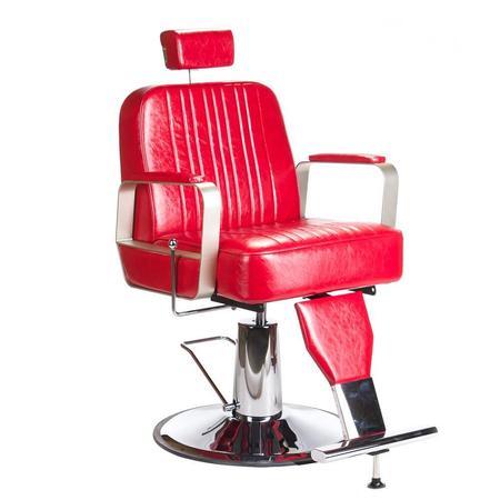 Fotel barberski HOMER BH-31237 Czerwony