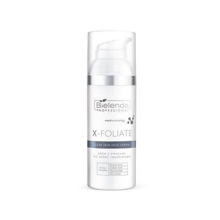 BIELENDA X – FOLIATE Clear Skin krem z kwasami do skóry trądzikowej 50 ml
