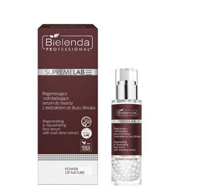 BIELENDA SUPREMELAB Power of Nature Regenerująco-odmładzające serum do twarzy z ekstraktem ze śluzu ślimaka 30 g