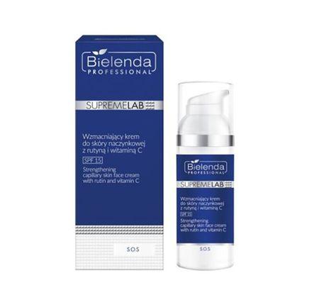 BIELENDA SUPREMELAB S.O.S Wzmacniające serum do skóry naczynkowej z rutyną i witaminą C 15 ml