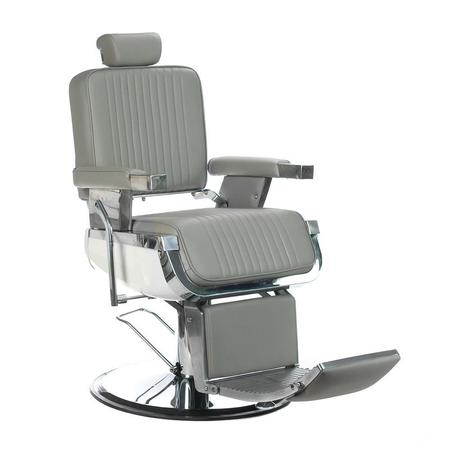 Fotel barberski LUMBER BH-31823 Jasny Szary