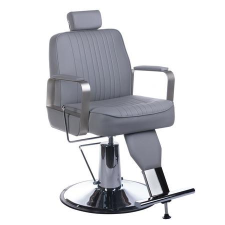 Fotel barberski HOMER BH-31237 Jasny szary