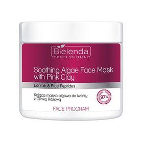 BIELENDA Kojąca maska algowa do twarzy z Glinką różową 160 g