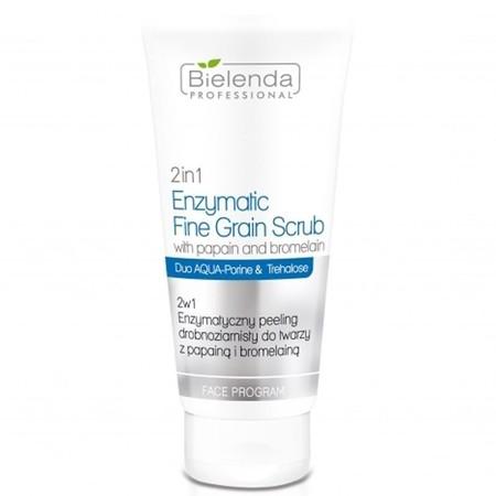 BIELENDA 2 w 1 Enzymatyczny peeling drobnoziarnisty do twarzy z papainą i bromelainą 150g (1)